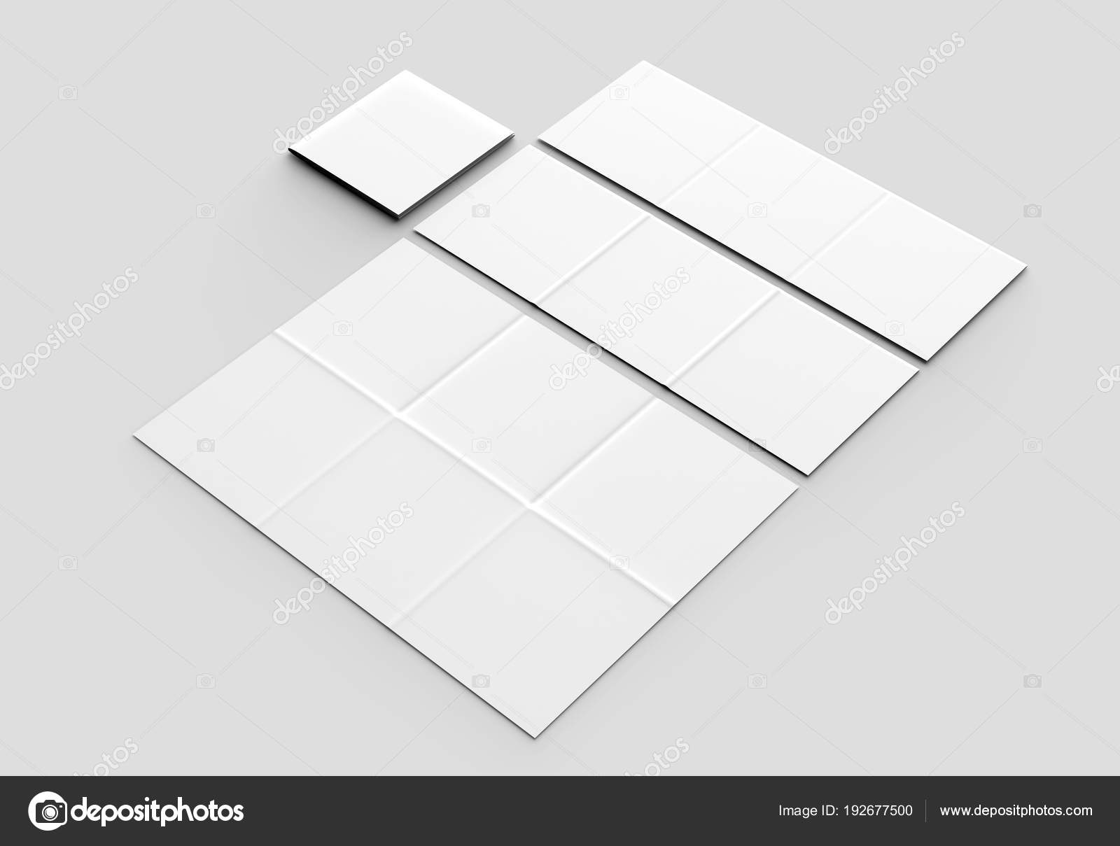 12 page leaflet french fold square brochure mock up isolated o
