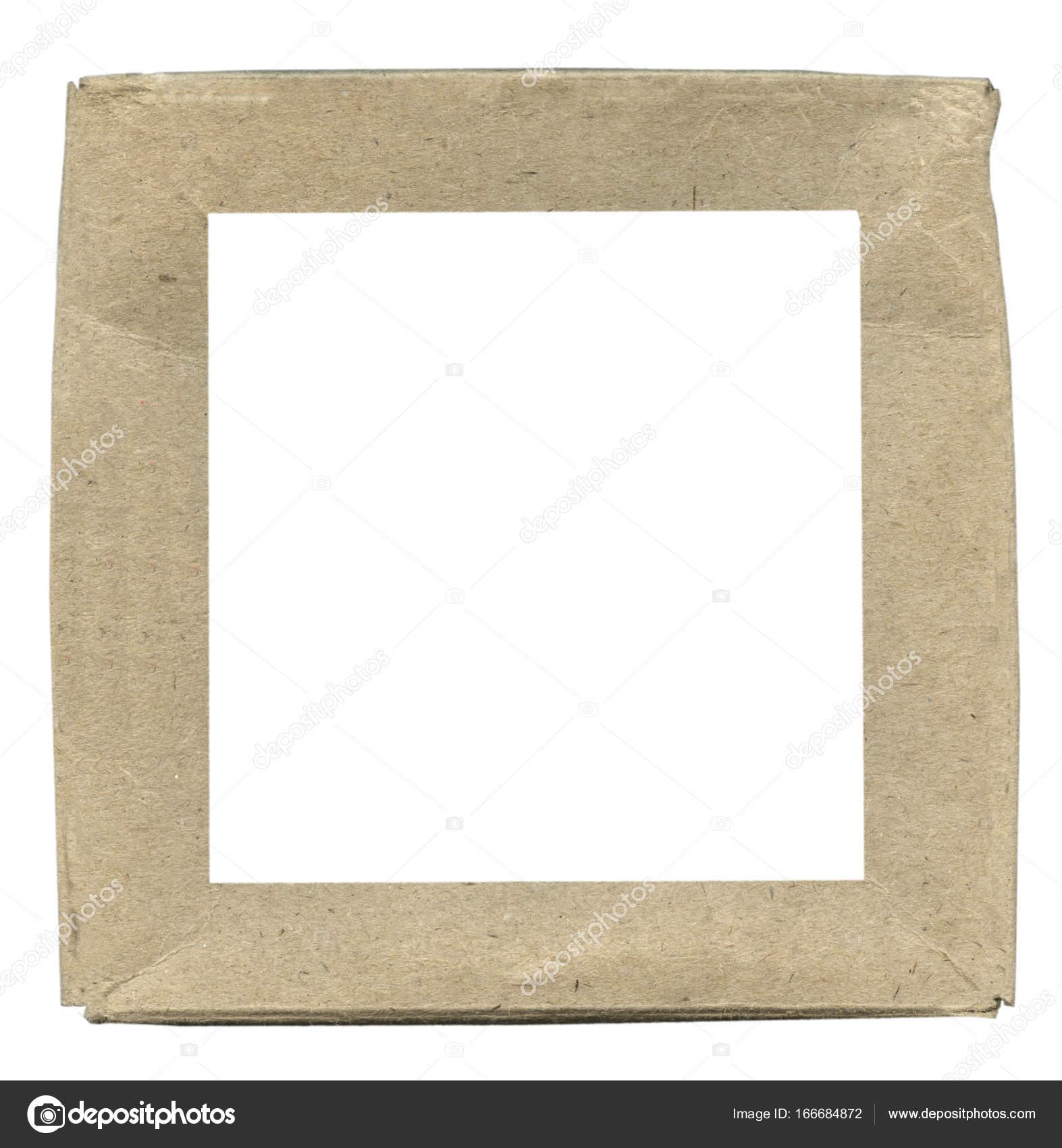 marco cuadrado de cartón — Fotos de Stock © natalt #166684872