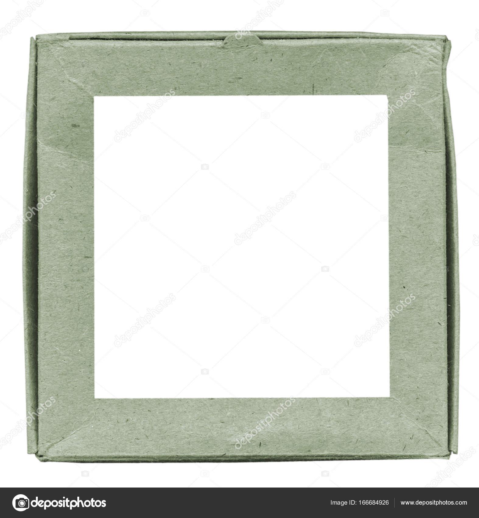 grüne Pappe quadratischen Rahmen — Stockfoto © natalt #166684926