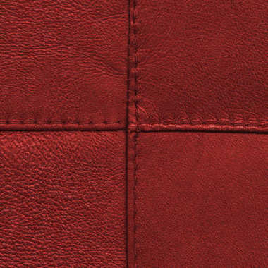 Red leather texture.Seams in form of the cross stock vector
