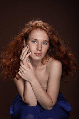 tender redhead woman