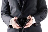 podnikatel hospodářství prázdnou peněženku