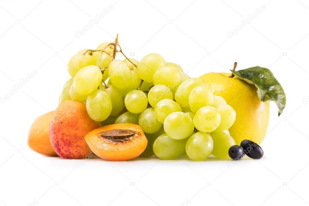 various fresh ripe fruits