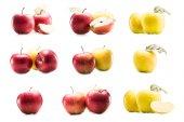 koláž s čerstvým pečená jablka