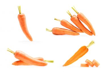 collage of various compositions with carrots