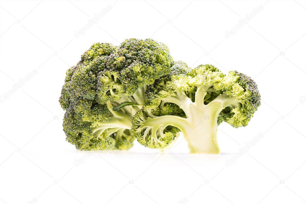 healthy ripe broccoli branches