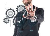 podnikatel zobrazeno virtuální režim