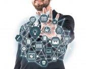 üzletember találat virtuális rendszer