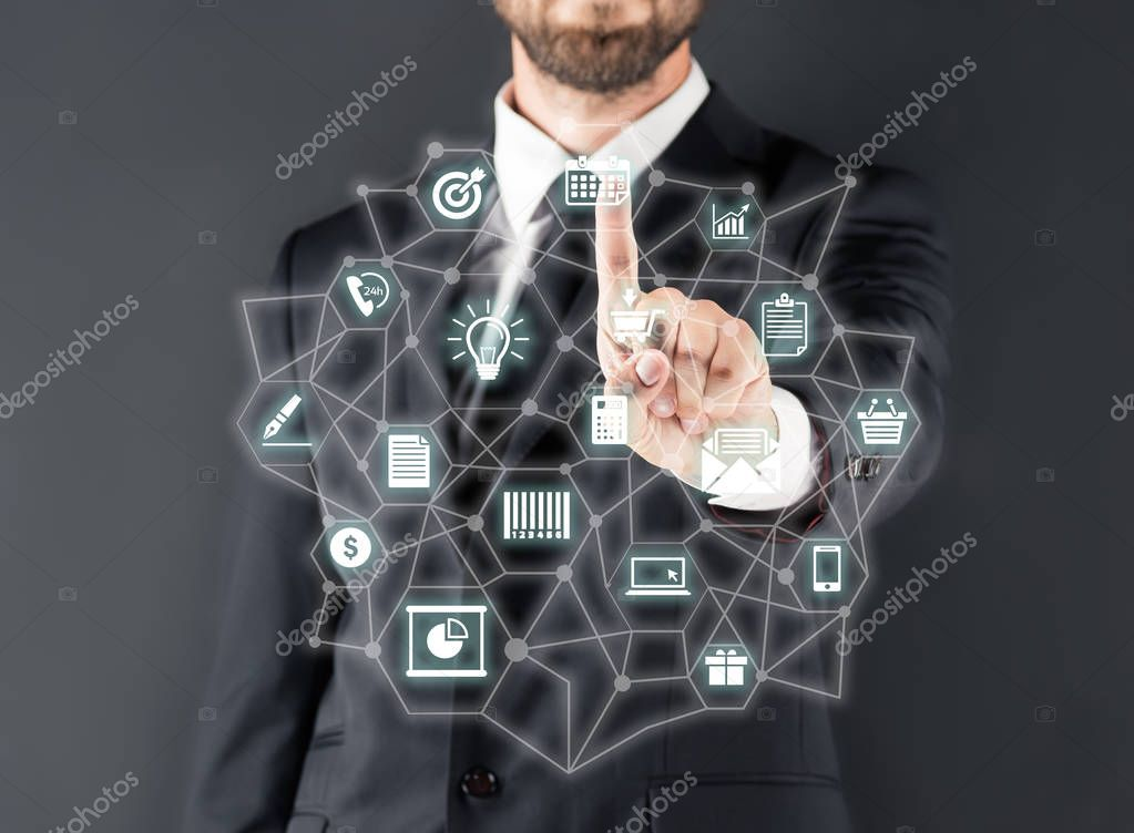 businessman pointing with finger