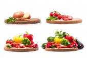 nyers zöldségek gyűjteménye