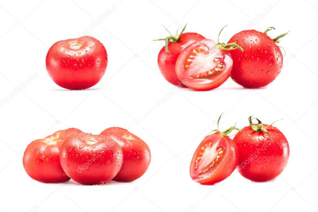 collection of fresh tomatoes