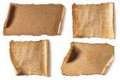 různé papíry čisté starožitný