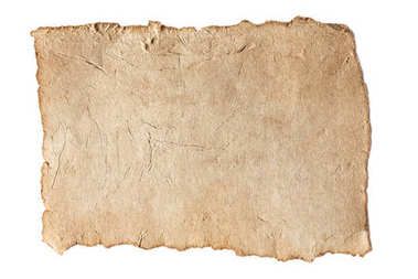 Blank aged brown paper texture isolated on white stock vector