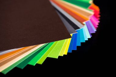 various colorful papers