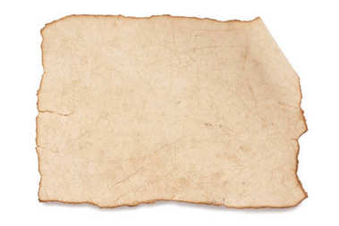 Blank rustic paper texture isolated on white stock vector