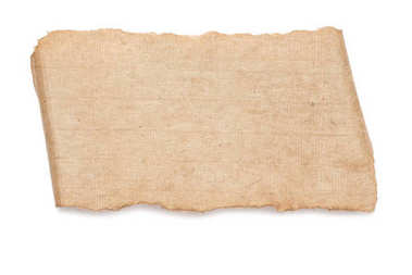 Blank ancient paper texture isolated on white stock vector