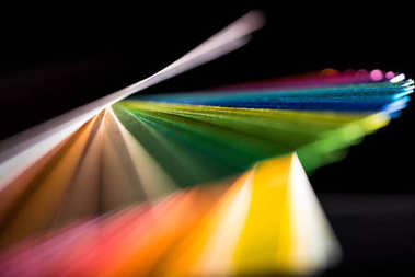 dynamic composition of colorful papers