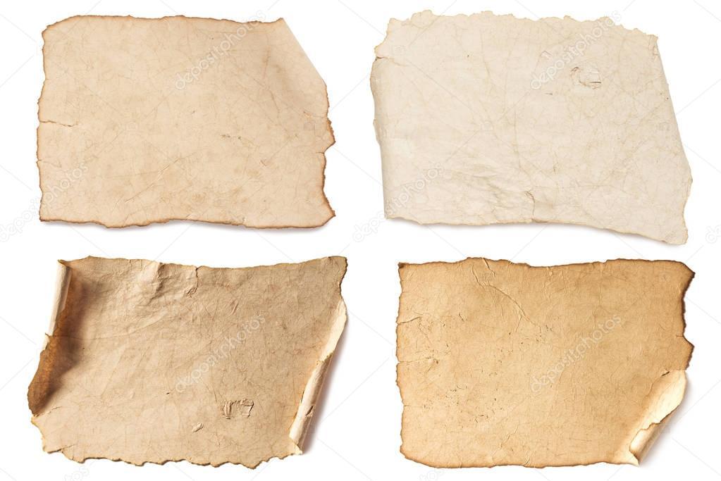 various blank brown papers