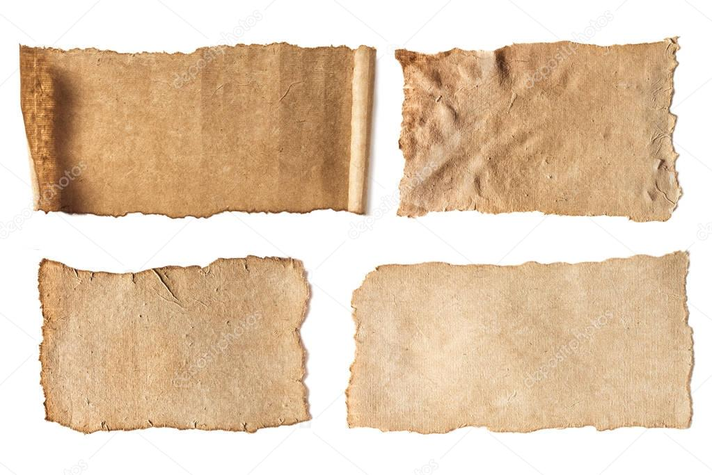 various blank ancient papers