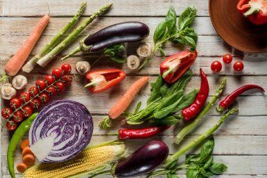 organic ripe vegetables