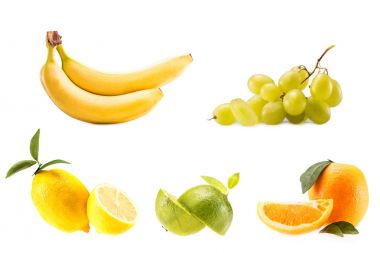 different fresh fruits