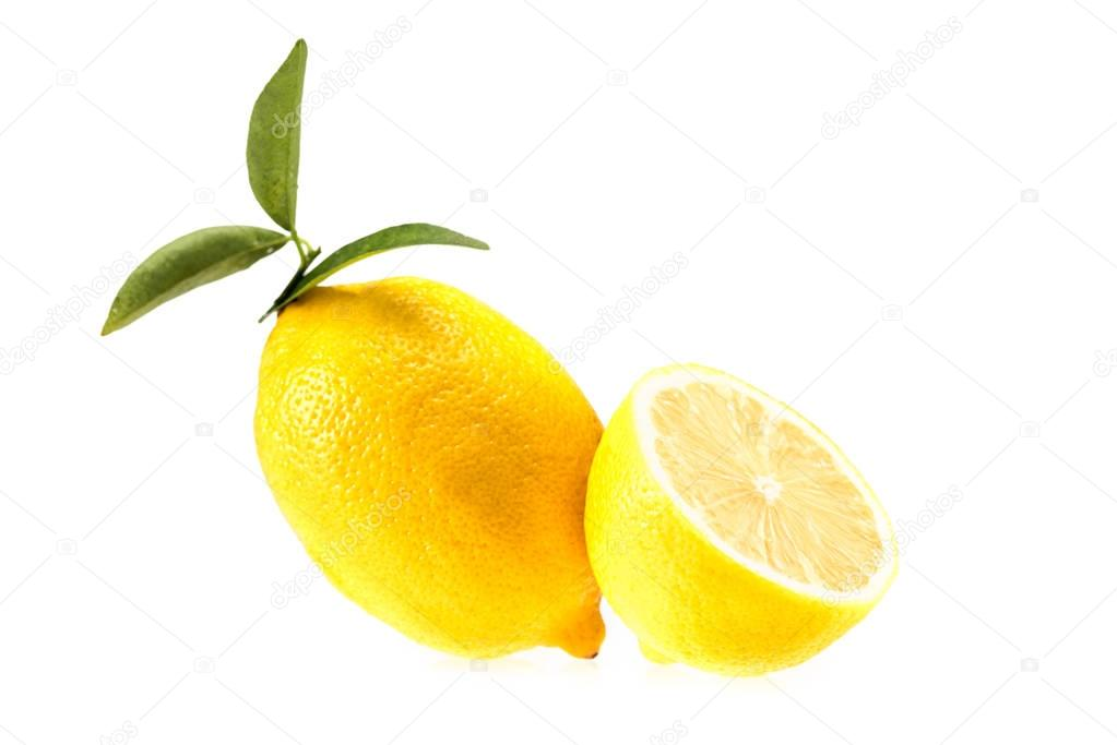 yellow juicy lemons