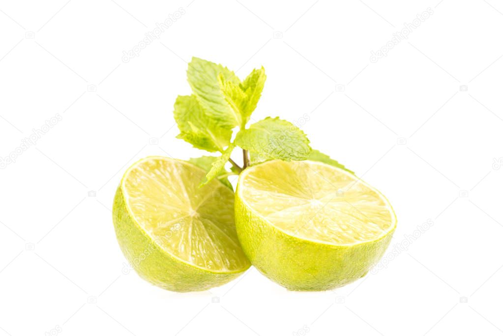 fresh halved lime