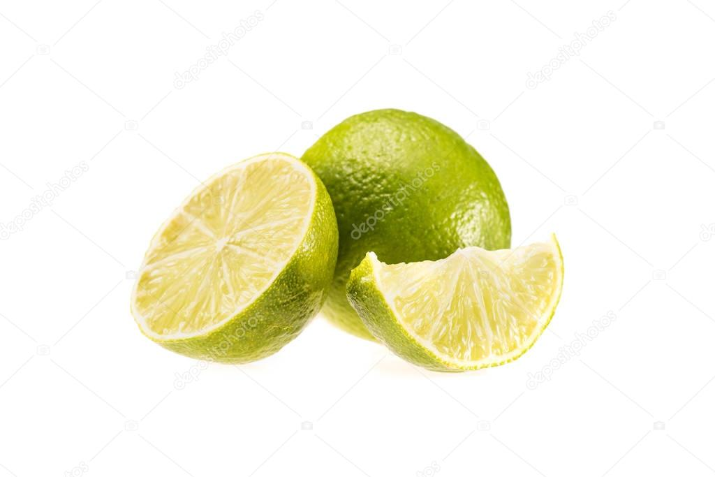 limes and mint leaves