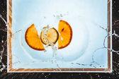 Scheiben von Orange und Zitrone