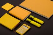 Photo composition of school supplies