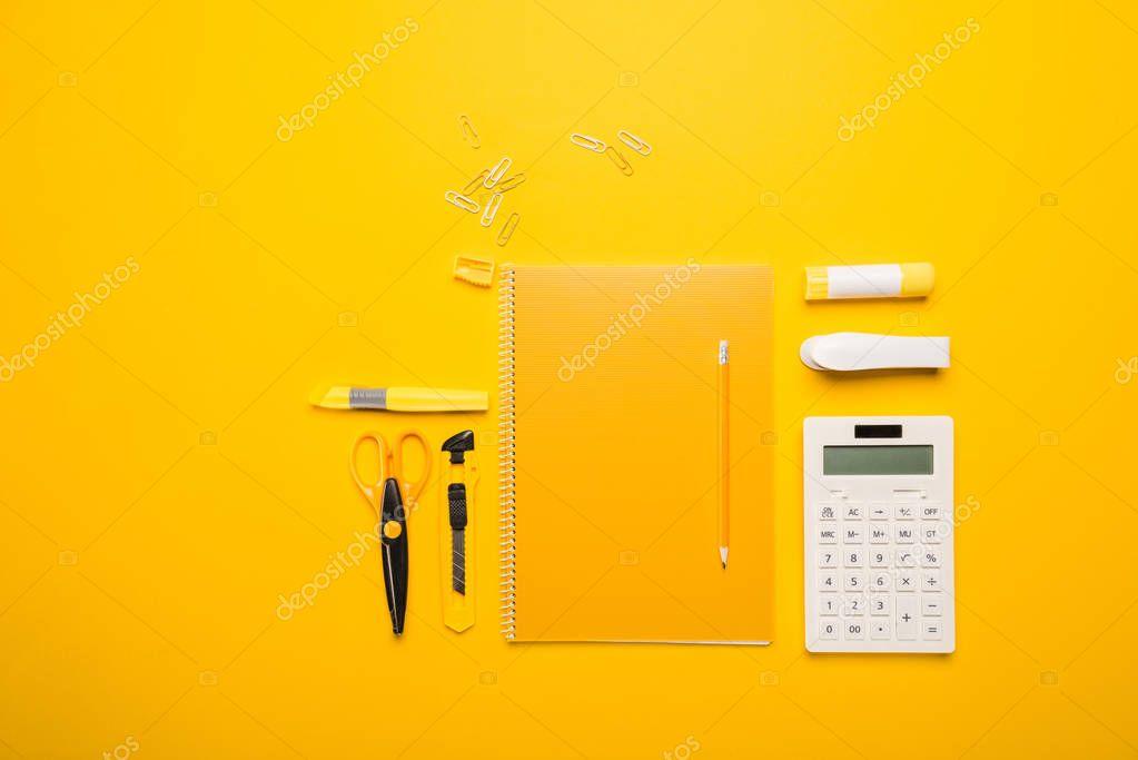 composition of school supplies