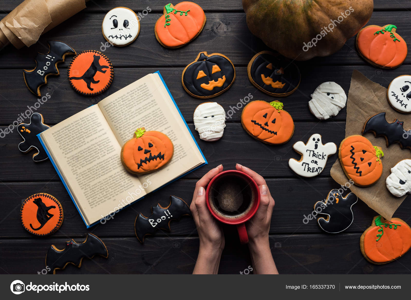 Livre De Lecture Femme Halloween Photographie Vadimvasenin