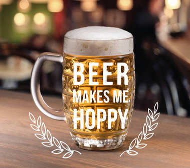 glass of beer standing table