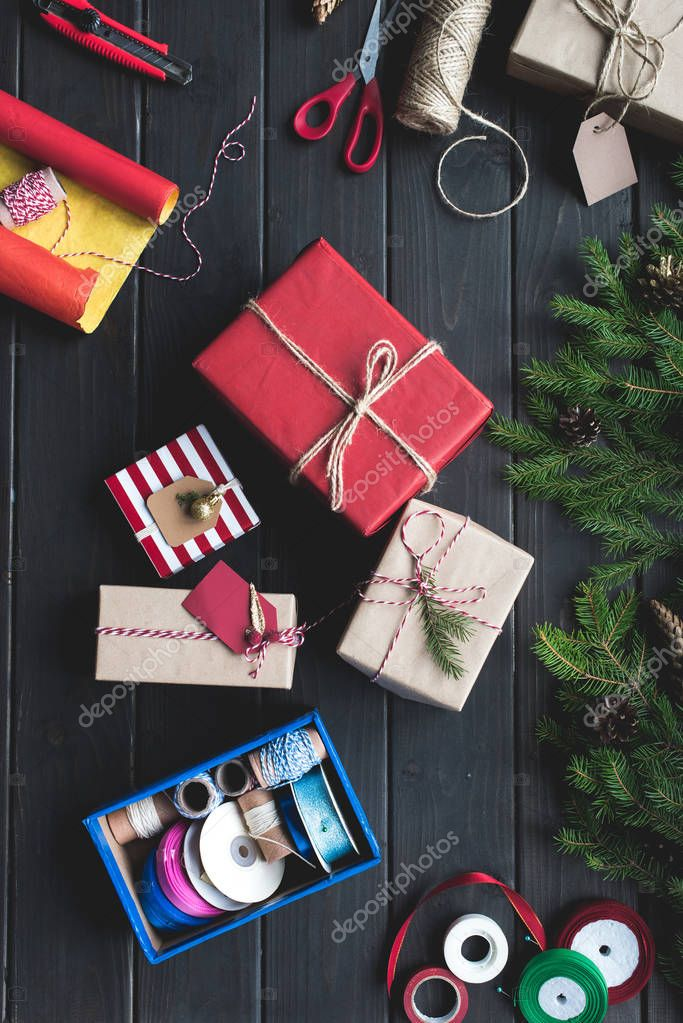 christmas gifts composition