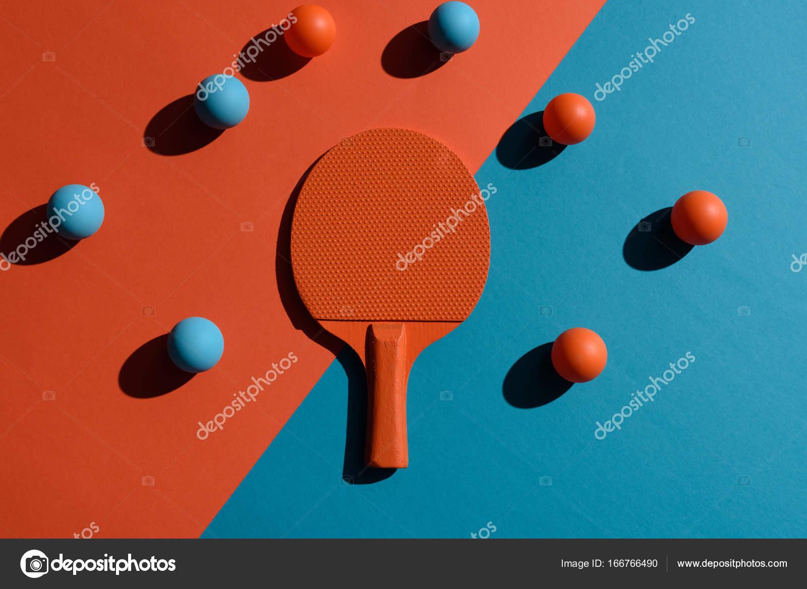 Bolas e raquete de ping pong stock photo vadimvasenin - Bolas de pin pon ...