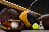 Fotografia attrezzature sportive