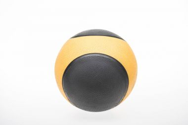 Black and yellow sports ball