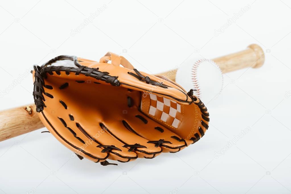 baseball equipment and mitt