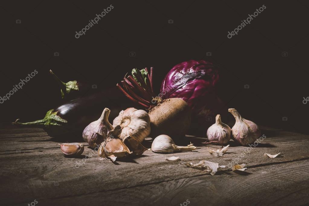 ripe vegetables on table