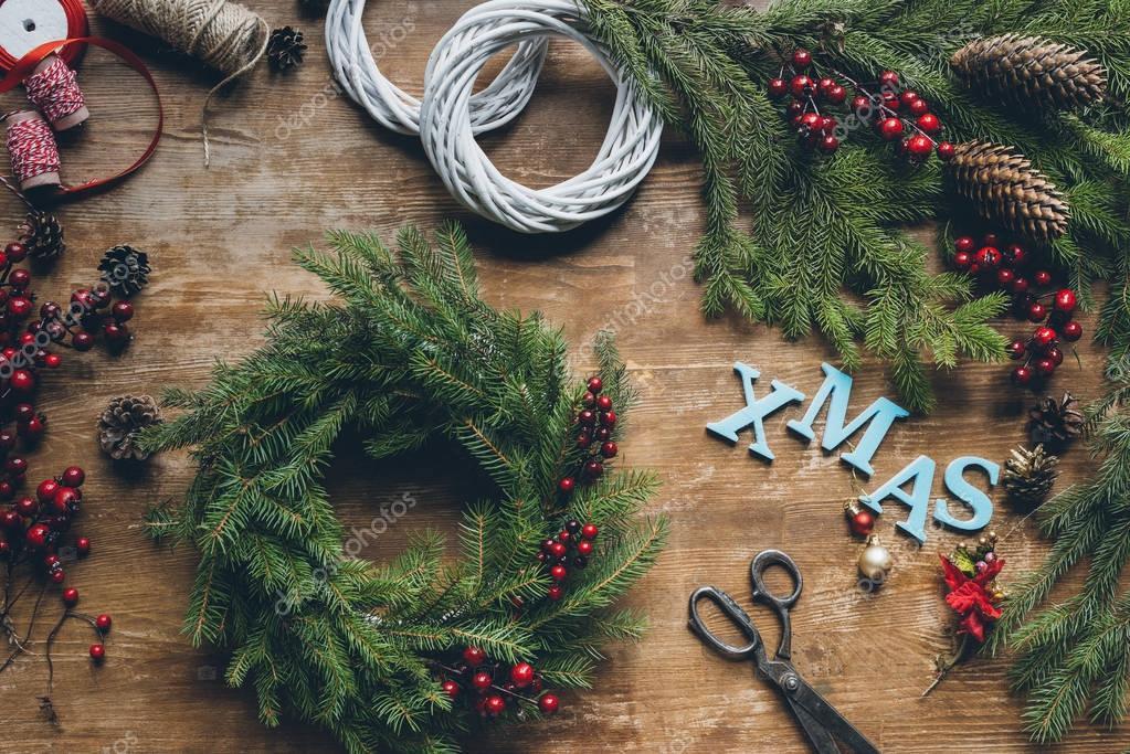 fir wreath for Xmas