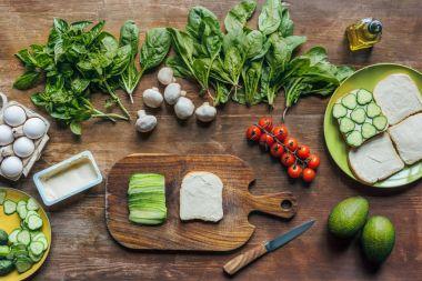 ingredients for cooking breakfast