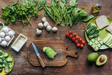 fresh avocado on cutting board