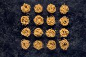 raw pasta nests