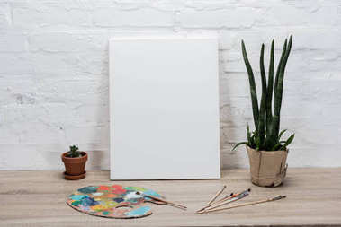 empty drawing easel on table