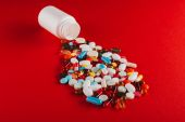 colorful pills and container