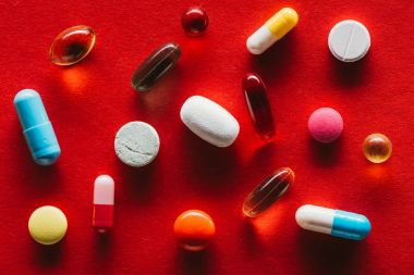 colorful capsules and tablets