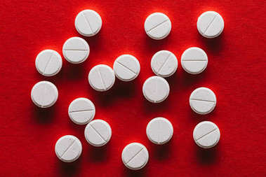 white medical tablets
