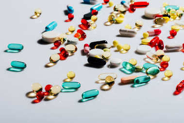 various colorful pills