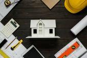 Fotografie Hausmodell und architektonischen Ausstattung
