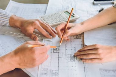 architects working on new plan together
